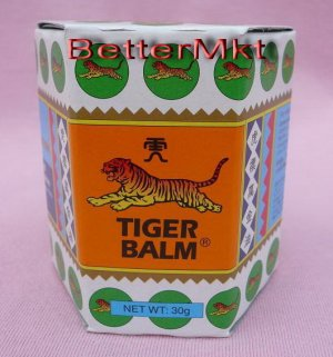 WHITE TIGER BALM 30g Relief Muscular Aches Pains Swelling Insect Bites
