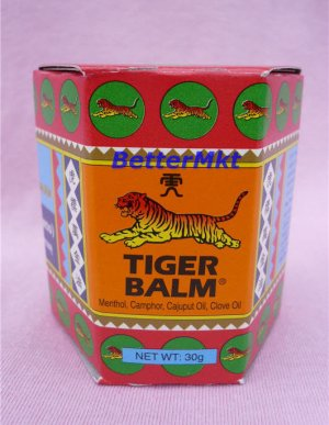RED TIGER BALM 30g Relief Muscular Aches Pains Sprains Insect Bites Itch