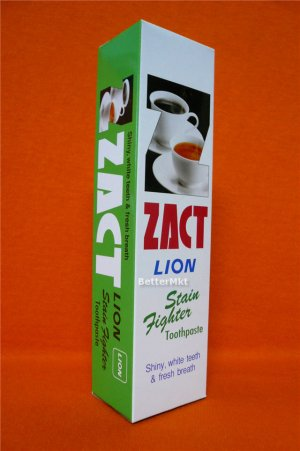 STAIN Fighter Toothpaste Shiny White Teeth ZACT LION 160g