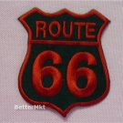 RED ROUTE 66 Highway LOGO EMBROIDERE​D  Sew Iron on Patch