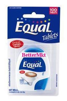 Equal 100 Tablets Low Calories Artificial Sweetener Tablet Dispenser