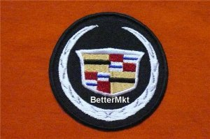 Cadillac Auto Car Automotive Round Logo Embroidered Applique Badge Sewing Iron on Patch