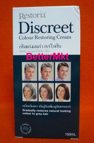 Restoria Discreet Hair Colouring Cream 150ml Restore Grey to Natural Looking Color
