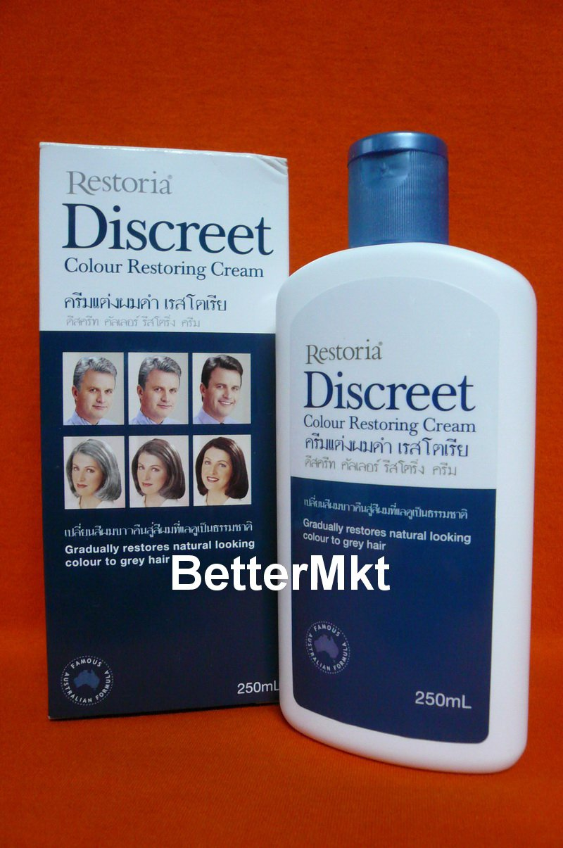 Restoria Discreet Hair Colouring Cream 250ml Restore Grey