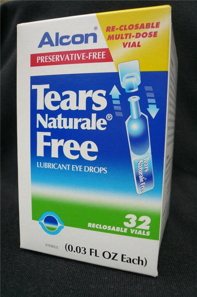 Alcon Tears Naturale Free Lubricant Eye Drops Relief
