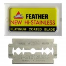 FEATHER Razor Blades NEW Hi-Stainless Platinum Coated Blade Double Edge