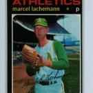 1971 Topps Baseball #84 Marcel Lachemann A's EXMT