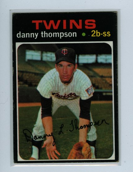 1971 Topps Baseball #127 Danny Thompson Twins EX