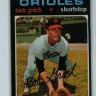 1971 Topps Baseball #193 Bob Grich Orioles VG/EX
