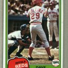 1981 Topps Baseball #175 Dave Collins Reds Pack Fresh