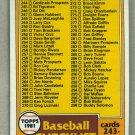 1981 Topps Baseball #338 Checklist 243-363 Pack Fresh