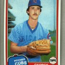 1981 Topps Baseball #514 George Riley RC Cubs Pack Fresh