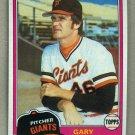 1981 Topps Baseball #588 Gary Lavelle Giants Pack Fresh