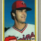 1981 Topps Baseball #603 John Verhoeven Twins Pack Fresh
