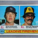 1979 Topps Baseball #8 Gossage/Fingers Leading Fireme Pack Fresh