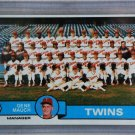 1979 Topps Baseball #41 Twins Team Checklist Pack Fresh