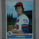1979 Topps Baseball #81 Roger Erickson RC Twins Pack Fresh