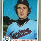 1979 Topps Baseball #162 Tom Johnson Twins Pack Fresh