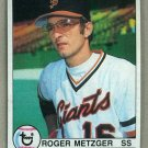 1979 Topps Baseball #167 Roger Metzger Giants Pack Fresh