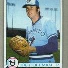 1979 Topps Baseball #329 Joe Coleman Blue Jays Pack Fresh