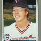 1979 Topps Baseball #362 Mike Cubbage Twins Pack Fresh