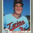 1979 Topps Baseball #371 Jeff Holly Twins Pack Fresh