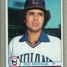 1979 Topps Baseball #459 Sid Monge Indians Pack Fresh