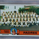 1979 Topps Baseball #479 Padres Team Checklist Pack Fresh