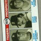 1979 Topps Baseball #706 Stegman/Tobik/Young RC Tigers Pack Fresh