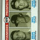 1979 Topps Baseball #710 Doyle/Heath/Rajsich RC Yankees Pack Fresh