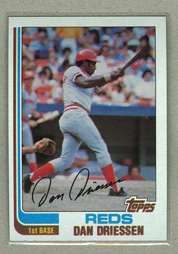 1982 Topps Baseball #785 Dan Driessen Reds Pack Fresh