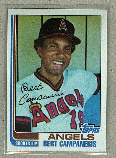 1982 Topps Baseball #772 Bert Campaneris Angels Pack Fresh