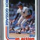1982 Topps Baseball #771 Rich Gossage Yankees Pack Fresh
