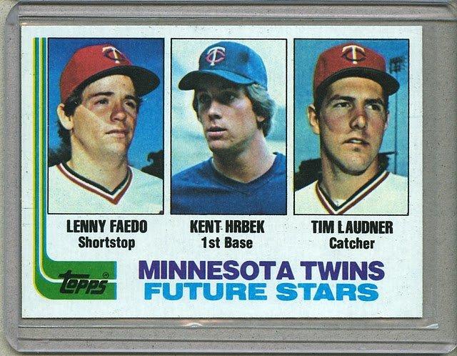 1982 Topps Baseball #766 Faedo/Hrbek/Laudner Pack Fresh