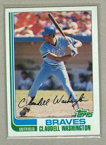 1982 Topps Baseball #758 Claudell Washington Braves Pack Fresh