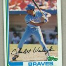 1982 Topps Baseball #758 Claudell Washington Braves Pack Fresh