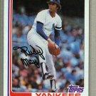 1982 Topps Baseball #735 Rudy May Yankees Pack Fresh