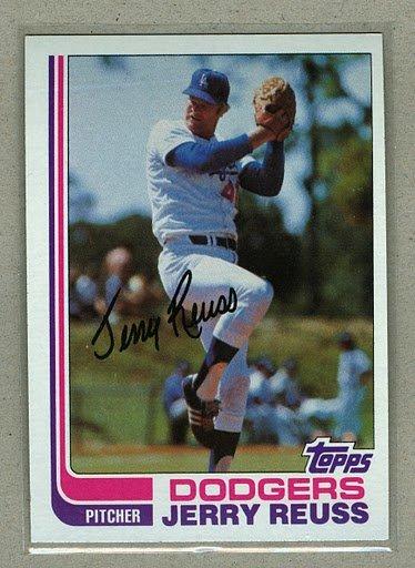 1982 Topps Baseball #710 Jerry Reuss Dodgers Pack Fresh