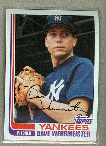 1982 Topps Baseball #694 Dave Wehrmeister Pack Fresh