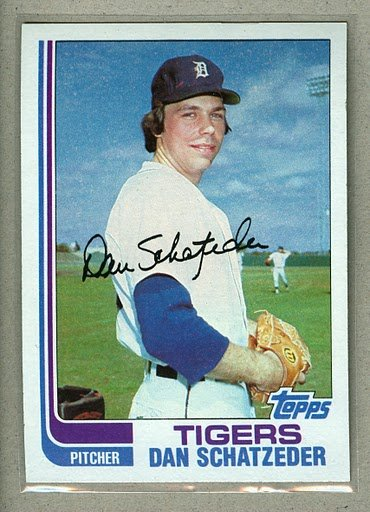 1982 Topps Baseball #691 Dan Schatzeder Tigers Pack Fresh
