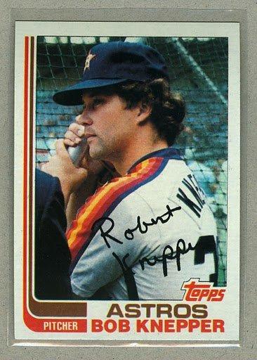 1982 Topps Baseball #672 Bob Knepper Astros Pack Fresh