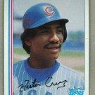 1982 Topps Baseball #663 Hector Cruz Cubs Pack Fresh