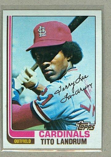 1982 Topps Baseball #658 Tito Landrum Cardinals Pack Fresh