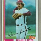 1982 Topps Baseball #647 Warren Brusstar Phillies Pack Fresh