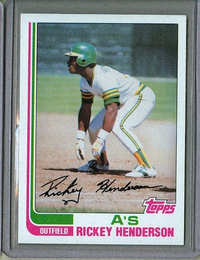 1982 Topps Baseball #610 Rickey Henderson A's Pack Fresh