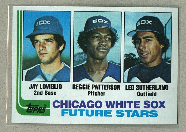 1982 Topps Baseball #599 Loviglio/Patterson/Sutherland RC White Sox Pack Fresh