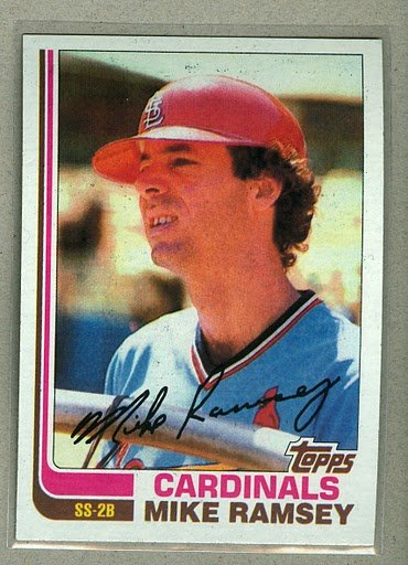 1982 Topps Baseball #574 Mike Ramsey Cardinals Pack Fresh