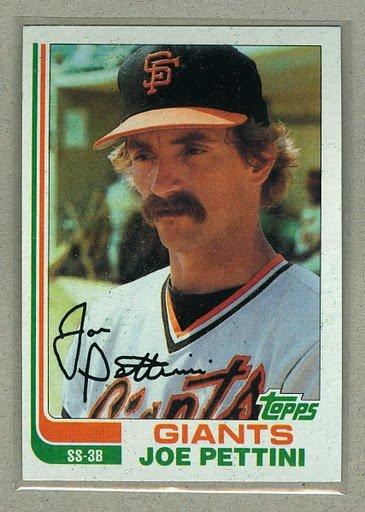 1982 Topps Baseball #568 Joe Pettini Giants Pack Fresh