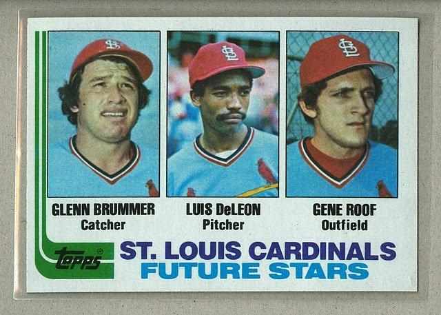 1982 Topps Baseball #561 Brummer/DeLeon/Roof RC Cardinals Pack Fresh
