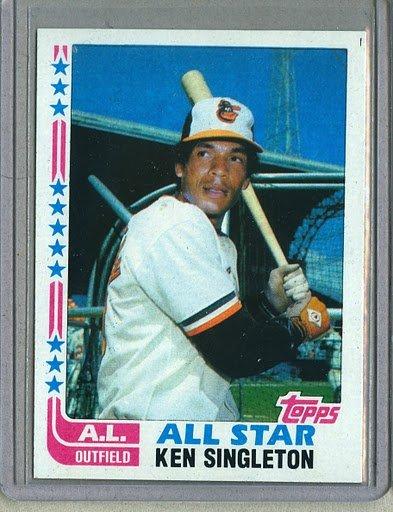 1982 Topps Baseball #552 Ken Singleton Orioles Pack Fresh